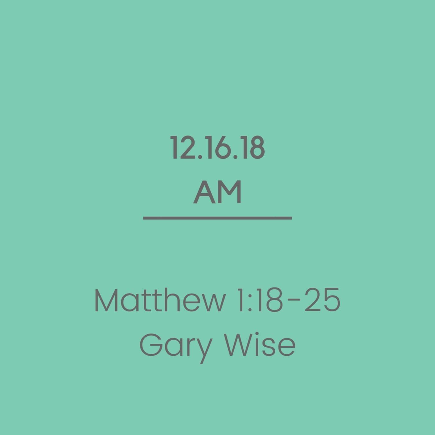 Gassville Baptist Church 23: Matthew 1:18-25