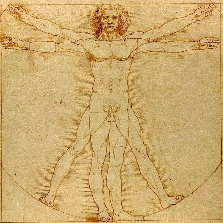 Человек и картинка с двумя руками и ногами
