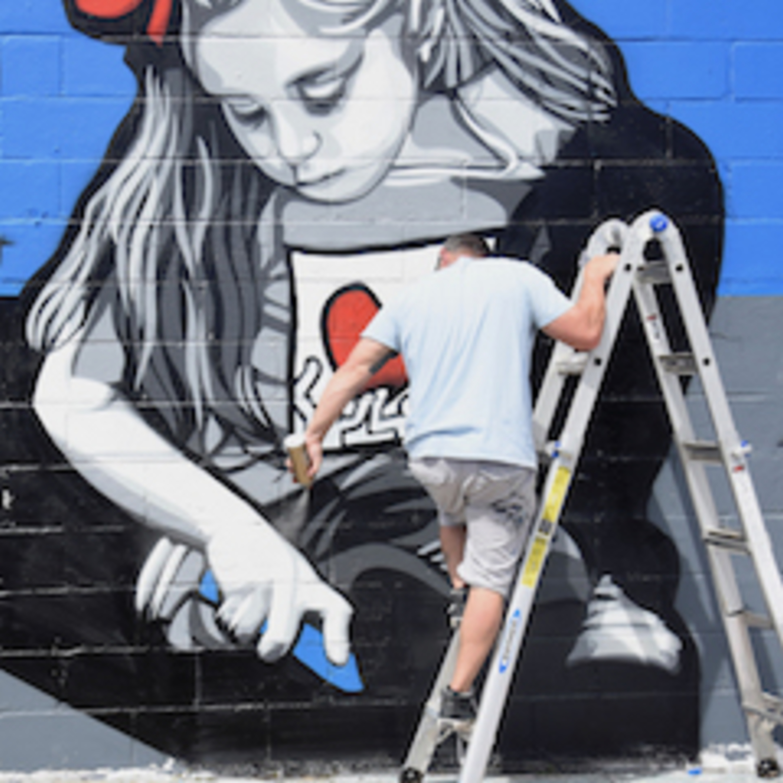 Welling Ct. Mural Project 2019 w/Joe Iurato